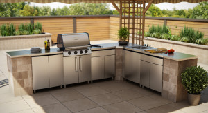 Contur Outdoor Kitchen Application - Okanagan Contur Garage Cabinets