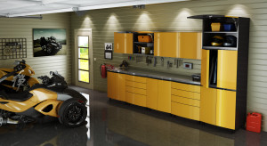 Contur Vespa Yellow Set - Okanagan Contur Garage Cabinets
